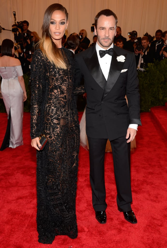 Joan Smalls and Tom Ford at the Met Gala 2013.