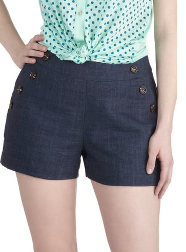 These Modcloth navy shorts ($50) come with a nautical vibe that will never go out of style.