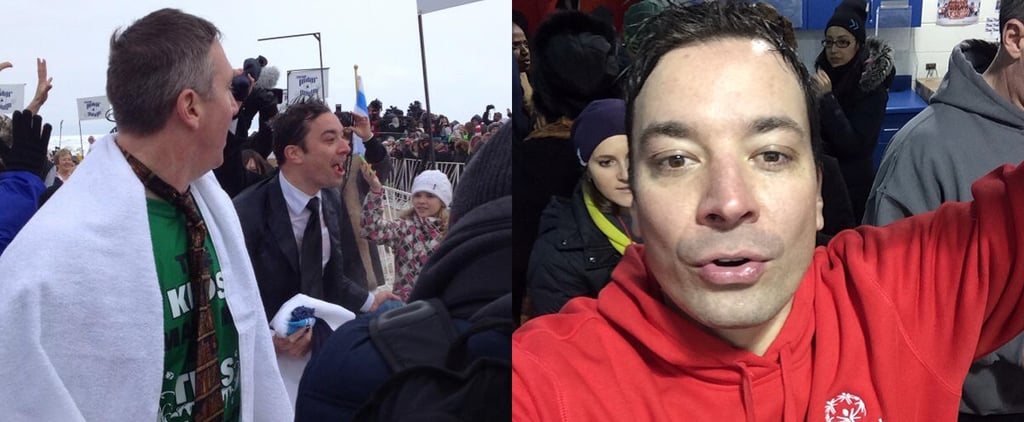 Jimmy Fallon Suits Up For the Polar Plunge — in 8 Degree Temps!