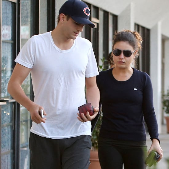 Ashton Kutcher and Mila Kunis Visit a Foot Spa | Pictures