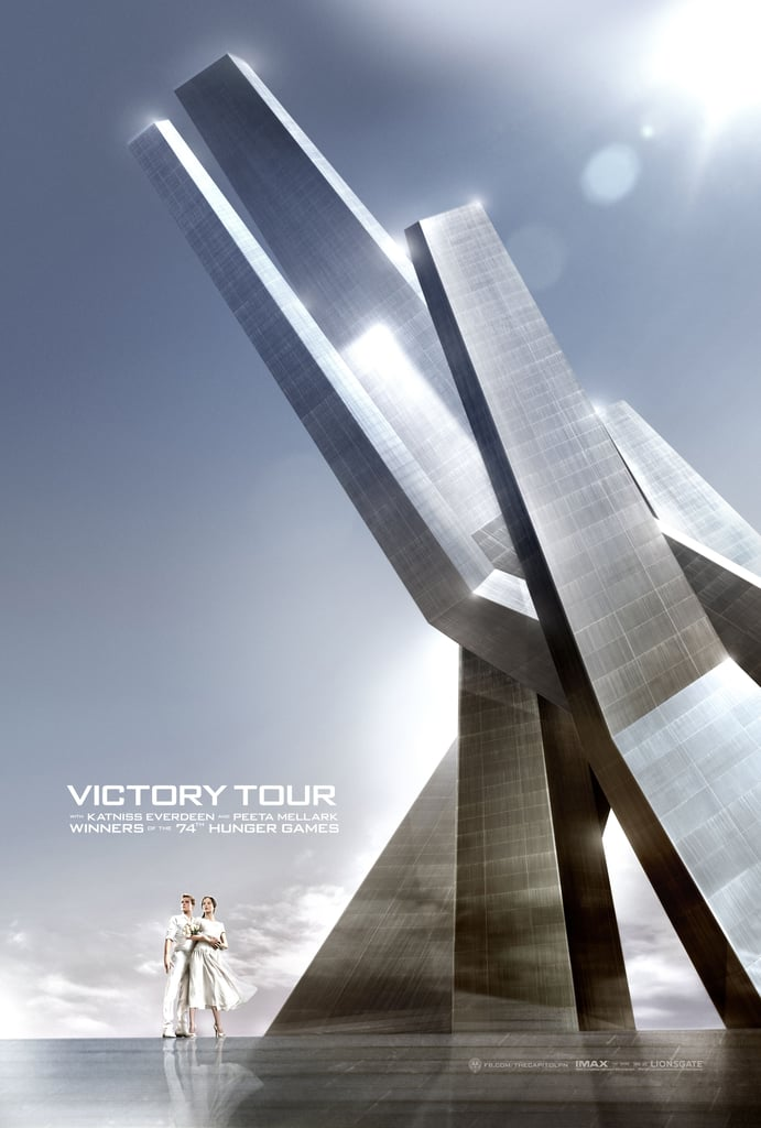 Katniss and Peeta in their Victory Tour poster.
