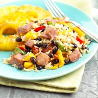 Fast & Easy Dinner: Ham and Pineapple Fried Rice