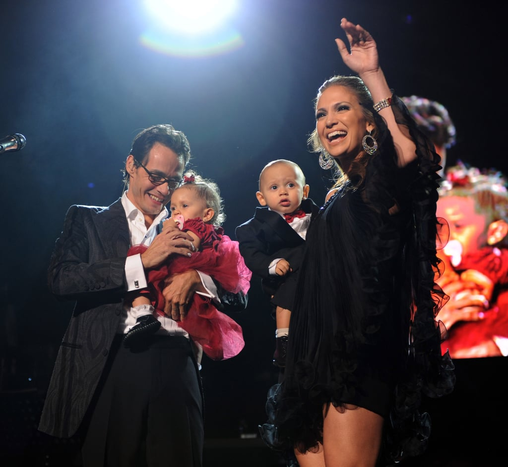 Jennifer Lopez and Marc Anthony With Max and Emme