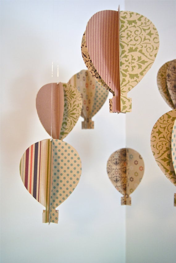 Trail of Ivy Antique 3D Paper Hot Air Balloon Mobile ($65)