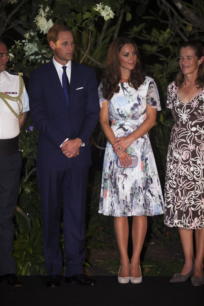 Kate Middleton and Prince William gathered at Eden Hall for dinner in Singapore.