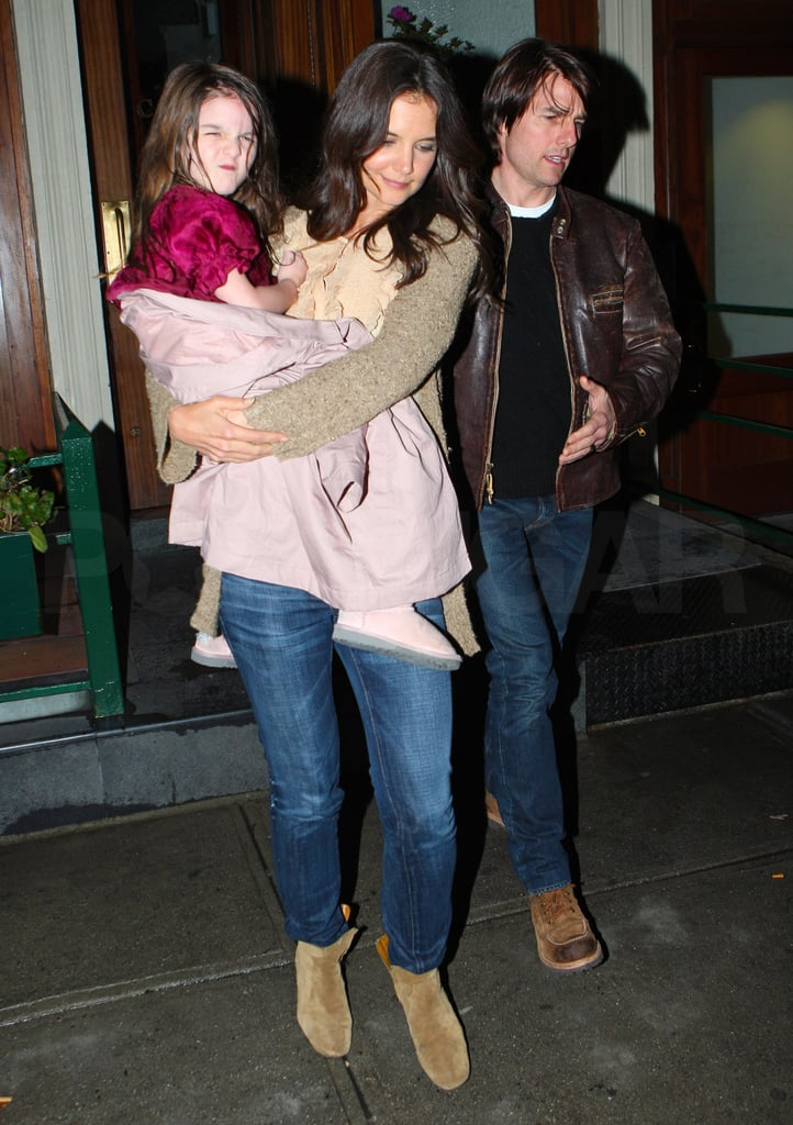 Katie and Tom Wrap Up a Busy Big Apple Day at Dinner With Sleepy Suri