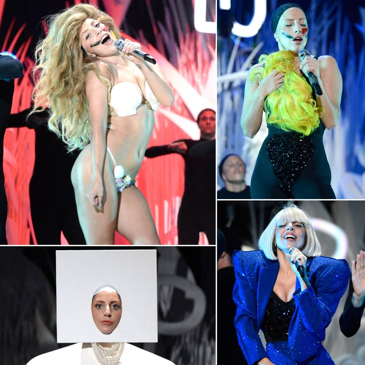 """Lady Gaga Goes Nearly Nude For """"Applause"""" at the VMAs"""