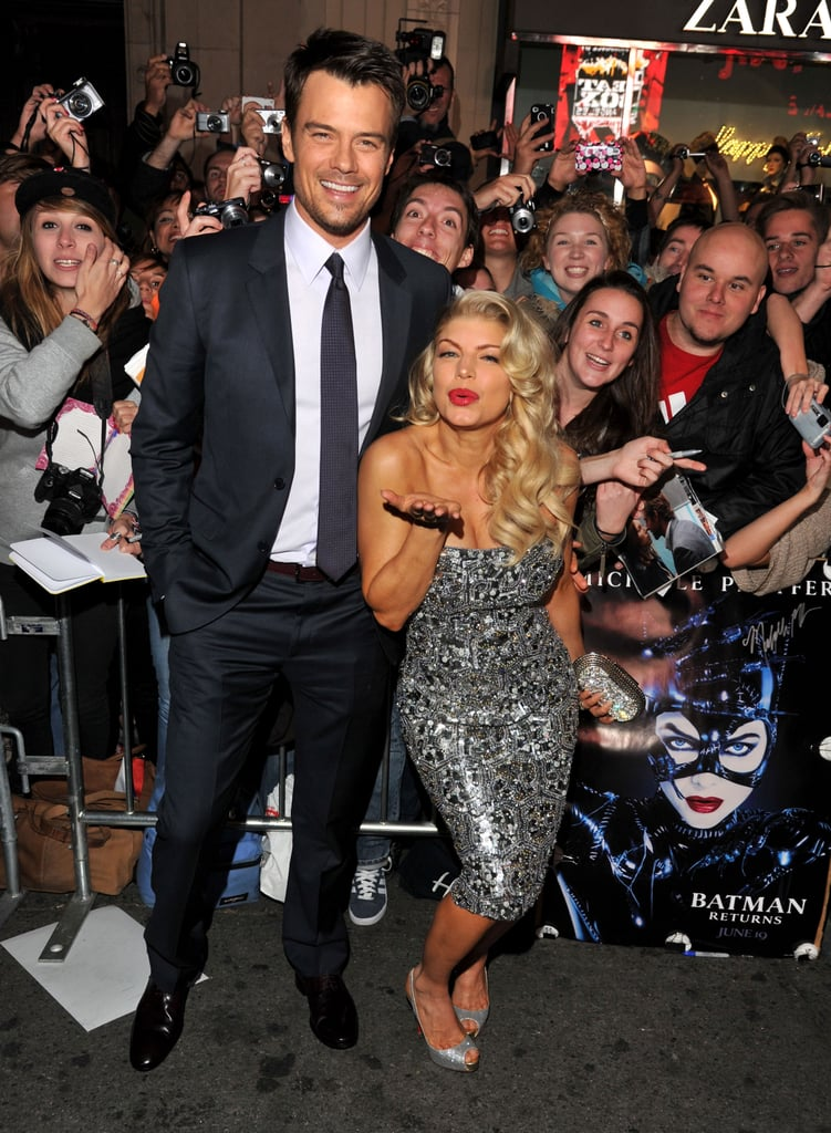 Fergie blew a kiss on her way into New Year's Eve with Josh Duhamel.