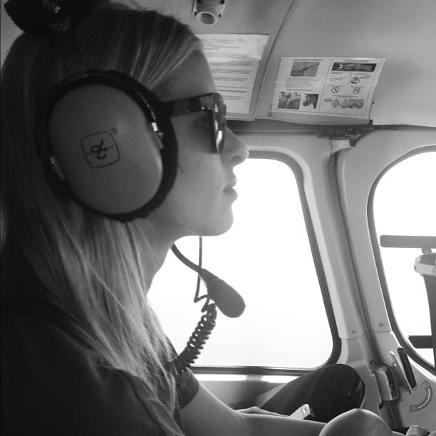 Nicky Hilton took a helicopter ride.  Source: Instagram user nickyhilton