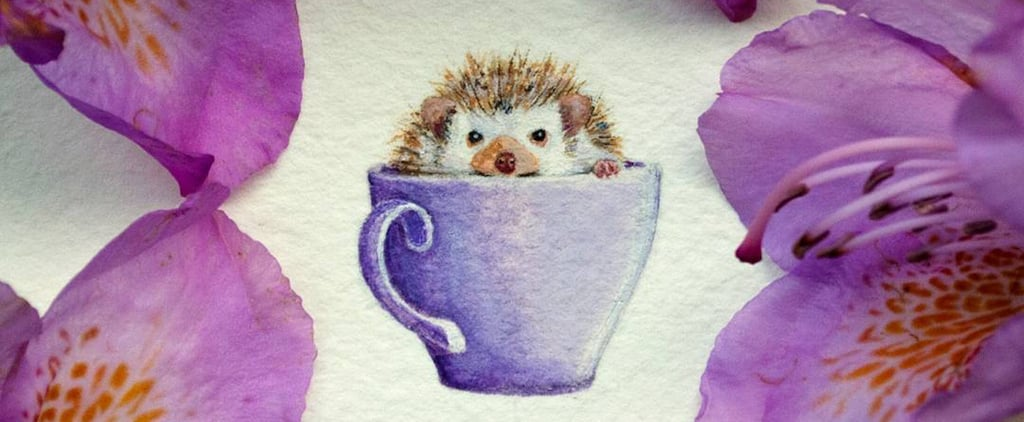 These Tiny Watercolor Paintings Will Require a Magnifying Glass to See in Full