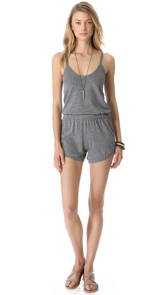This is a music festival must have based on its soft jersey fabric, sportier silhouette, and go-with-everything versatility. Plus, this Daftbird gathered-waist romper ($97) won't break the bank.