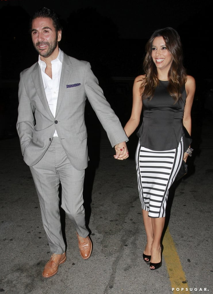 Eva Longoria and her boyfriend, Jose Antonio Baston, stayed close while out in LA on Thursday.