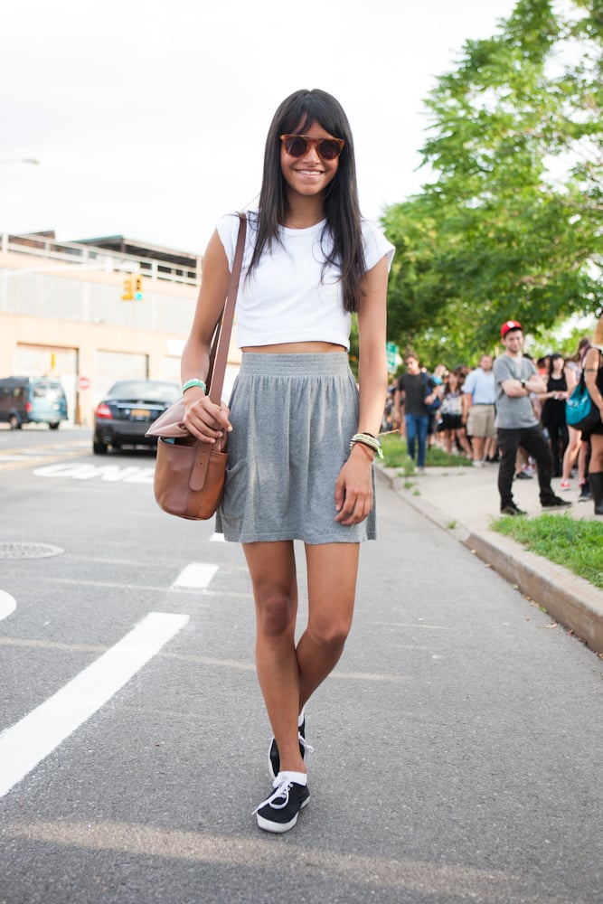 Boy-meets-girl style with a pair of easy kicks and equally easy separates. Source: Laura June Kirsch