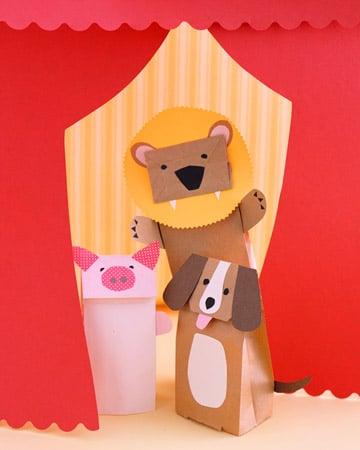 Make Paper Bag Puppets