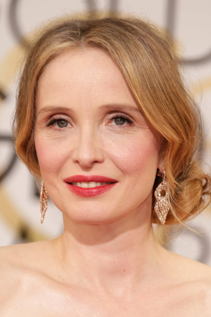 Julie Delpy chose a rich pink pout for tonight's festivities.
