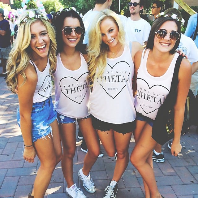 Cute sorority t shirts and style popsugar fashion for Southern fraternity rush shirts