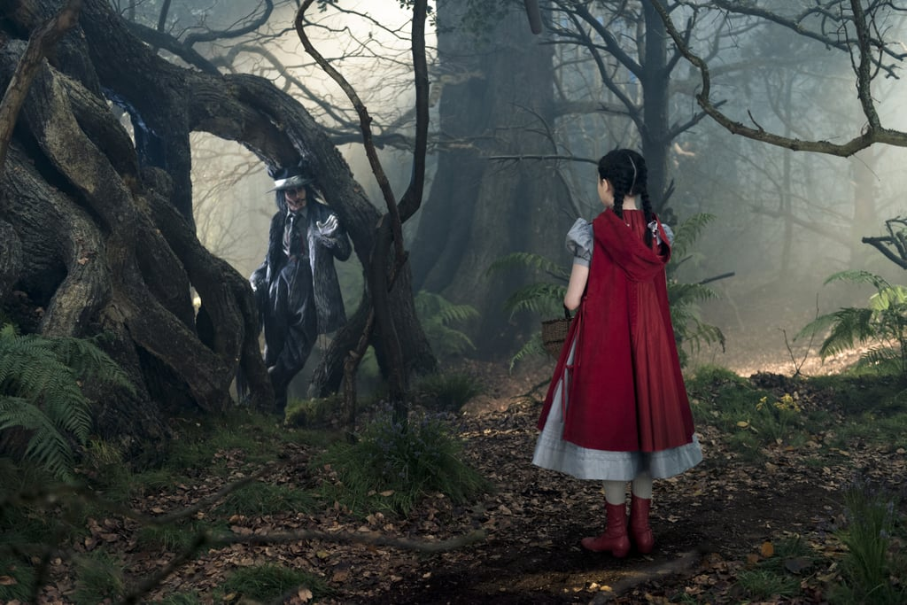 Little Red Riding Hood comes face to face with The Wolf.
