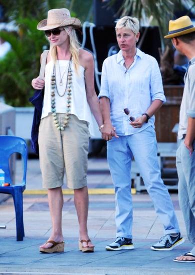 Pictures of Ellen DeGeneres and Portia de Rossi on Vacation in St. Barts