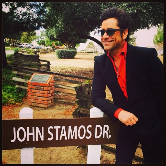 John Stamos discovered that he has a street named after him. Source: Instagram user johnstamos
