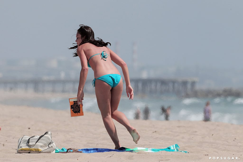 Desiree Hartsock brought a book to the beach in LA.
