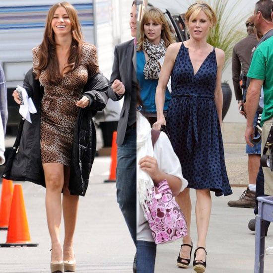 Pictures of Sofia Vergara and Julie Bowen Shooting Modern Family