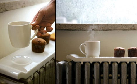 Cool Idea: Ceramic Radiator Food Warmer