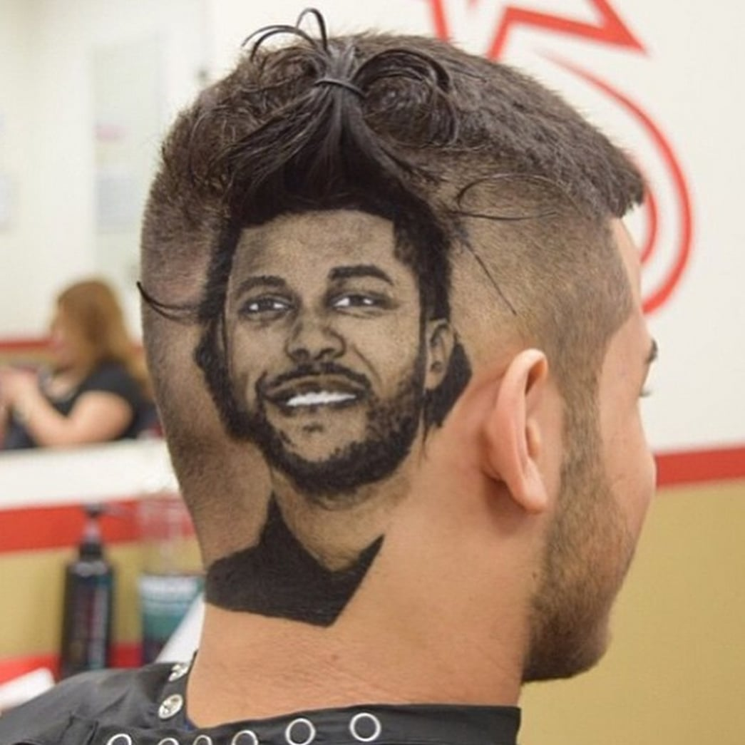The Weeknd This Barber Makes Celebrity Portraits Out Of