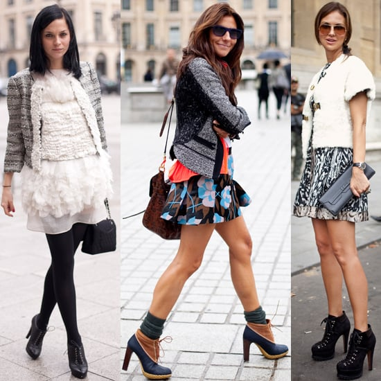 Paris Street Style: Women Show Off Legs in Miniskirts