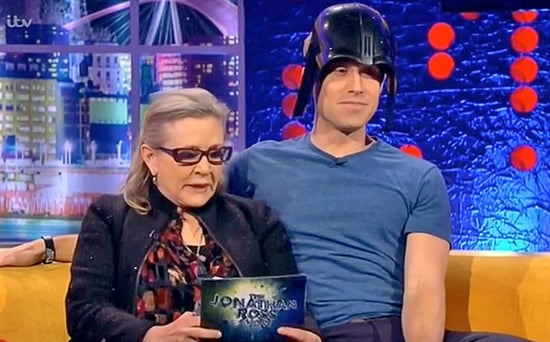 FROM EW: Carrie Fisher Reenacted Star Wars Scenes with a British Darth Vader