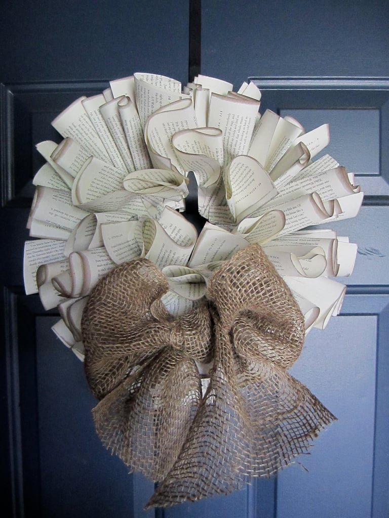 Book Page Wreaths