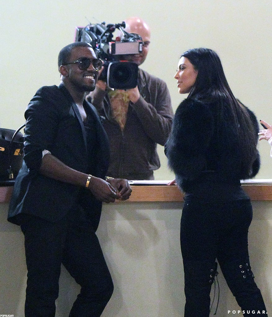 Kim met up with Kanye in NYC in October 2010, long before they started dating.