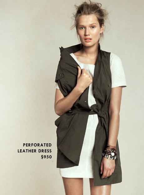 Skip: Perforated Leather Dress ($950)  Why: White leather's gorgeous, but a little less versatile than a darker hue, which we'd bet you'll wear more frequently and with a little less wear and tear.