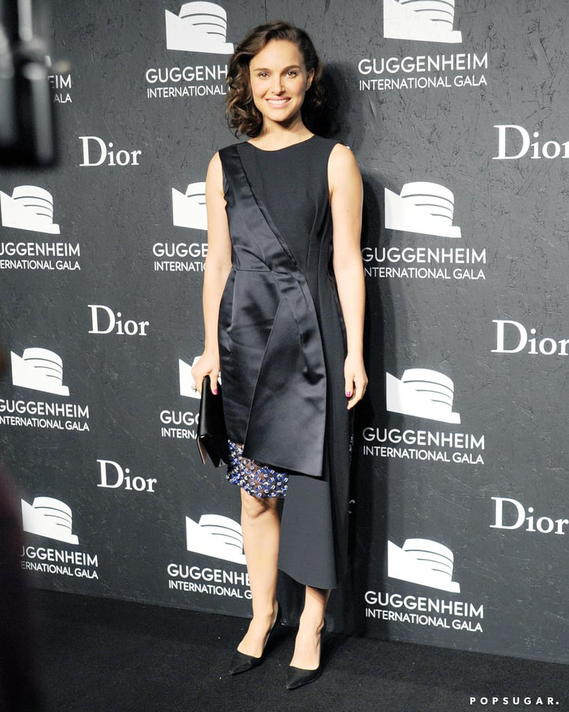Natalie Portman walked the red carpet at the Guggenheim International Gala.