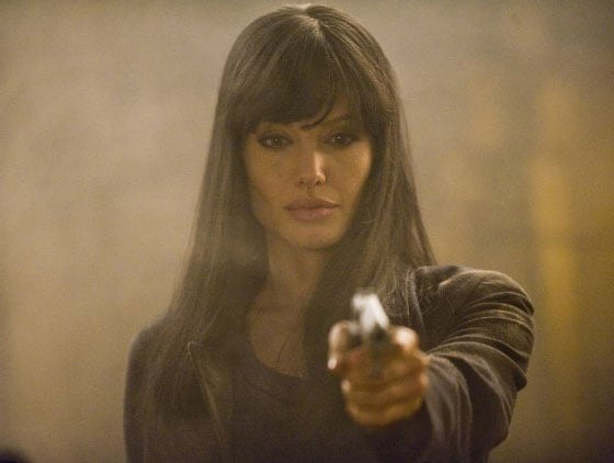 Angelina Jolie wielded a gun for her 2010 action flick, Salt. Photo courtesy of Columbia Pictures
