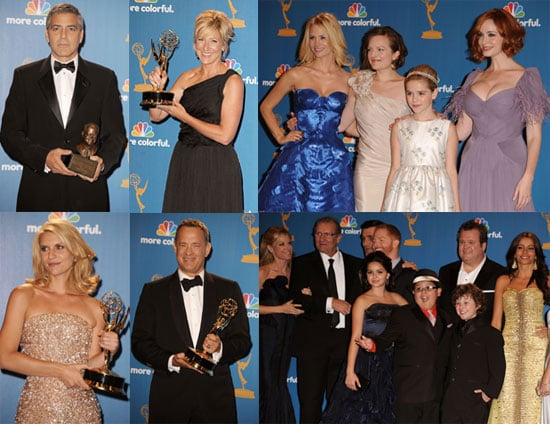 Pictures of George Clooney, January Jones, Sofia Vergara, and More in the Emmys Press Room