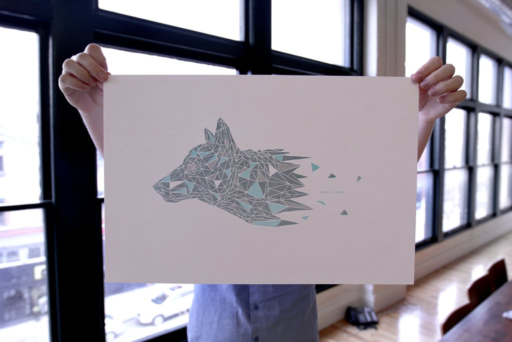 Deck Your Walls With Game of Thrones Direwolf Geometry