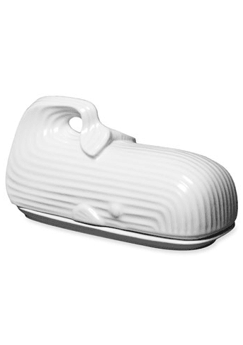 I'd be telling a whale of a tale if I claimed that whales weren't super trendy right now. Add a small one to your home with this Jonathan Adler Whale Butter Dish ($68).