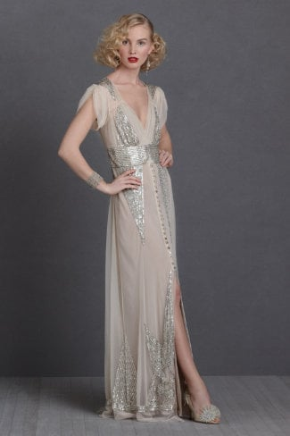 For the girl who's all about '20s glam, this Anna Sui sequined gown ($1,200) is the perfect way to spend your big day.