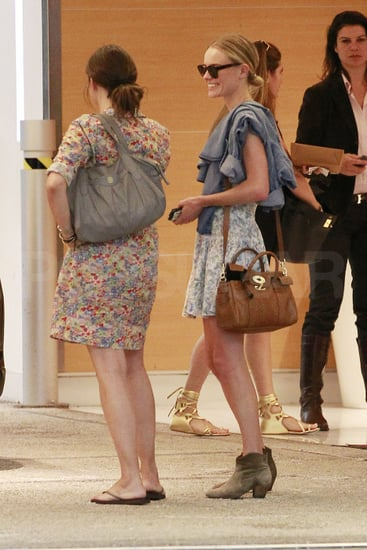 Kate Bosworth chatted with friends.