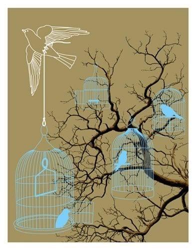 Etsy Find:  Birdcages Print