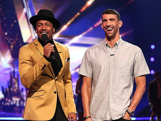 Michael Phelps' Son Boomer Supports His Dad on America's Got Talent (and Meets Simon Cowell!)