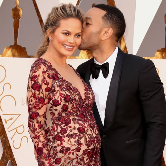 Chrissy Teigen and John Legend at the Oscars 2016
