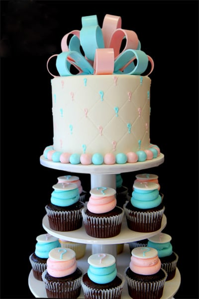 Pink and Blue Cupcake Stand
