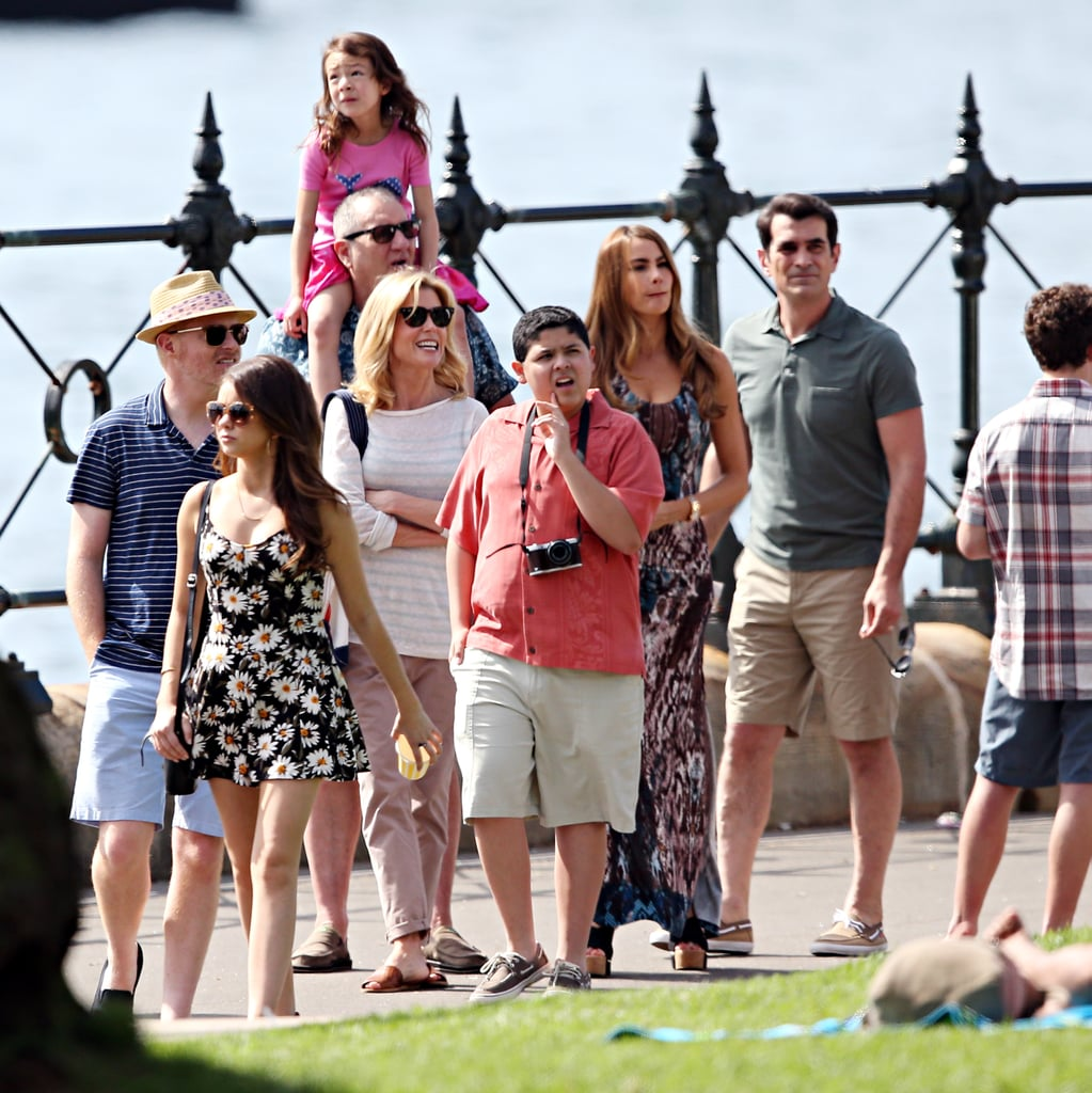 The whole cast out in Sydney on Feb. 20.