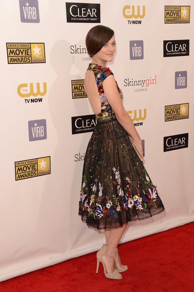 Marion Cotillard wore a backless gown.
