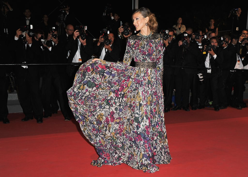 Sarah Jessica Parker showed off her dress at the Wu Xia premiere during the 64th Cannes Film Festival in 2011.