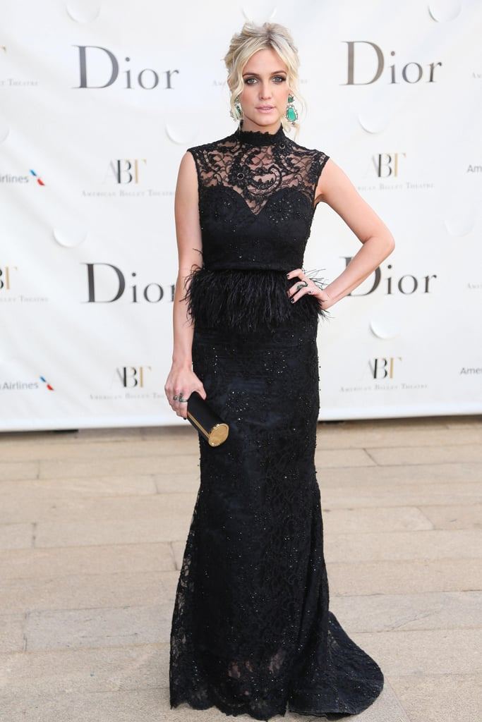 Ashlee Simpson in Alice + Olivia at the American Ballet Theatre's Opening Night Gala in New York. Source: Will Ragozzno/BFAnyc.com