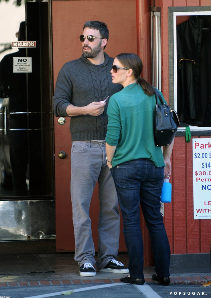Jennifer Garner was out running errands with husband Ben Affleck in LA.
