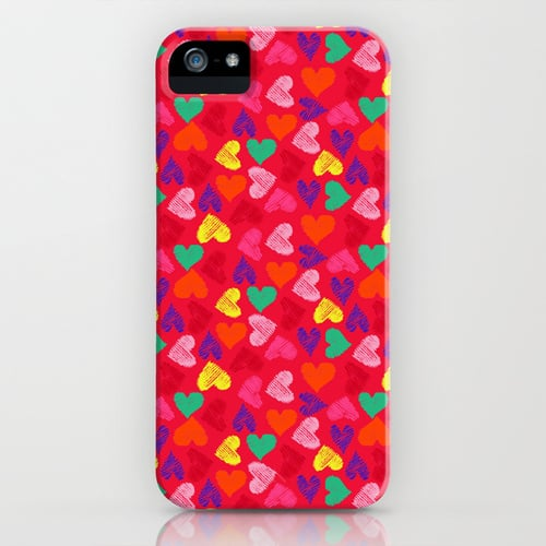 Scribble heart case ($35) for iPhone models and Samsung Galaxy S