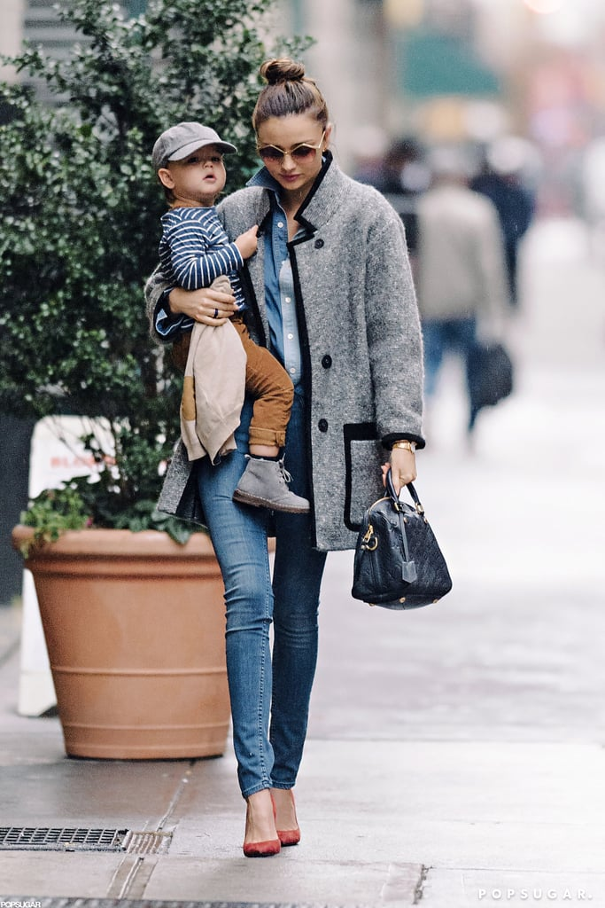 Miranda Kerr and her son hit the streets of NYC.